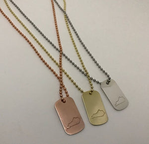 Kentucky Dog Tag Necklace