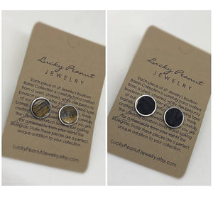 Kentucky Bourbon Barrel Bezel Set Stud Earrings