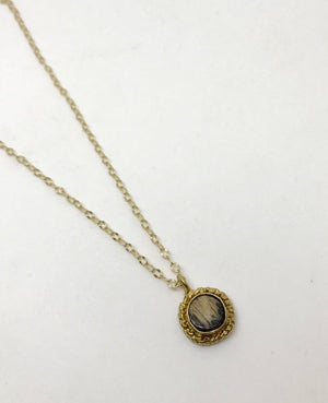 Kentucky Whiskey Bourbon Barrel Bezel Set Necklace