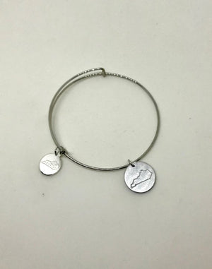 Hand Stamped Kentucky Charm Bracelet