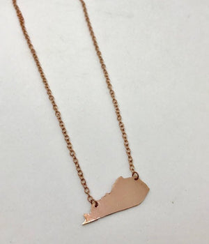 Copper Kentucky Necklace - with Kentucky Shaped Charm