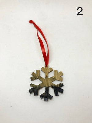 Kentucky Bourbon Barrel Snowflake Ornament