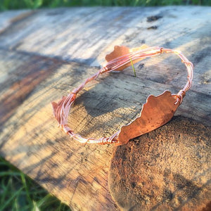 Kentucky Wire Wrapped Two Bangle Set