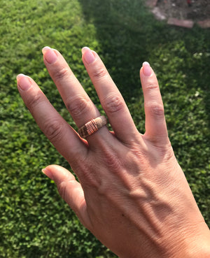 Wire-Wrapped Bourbon Barrel Ring