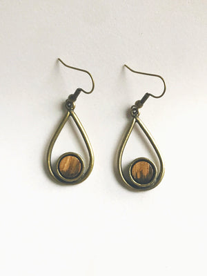 Teardrop Bourbon Barrel Earrings