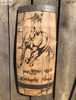 Customizable Wood Burned Bourbon Barrel Wall Decor