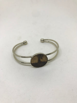 Handmade Antique Silver or Gold Bourbon Whiskey Barrel Cuff Bracelet