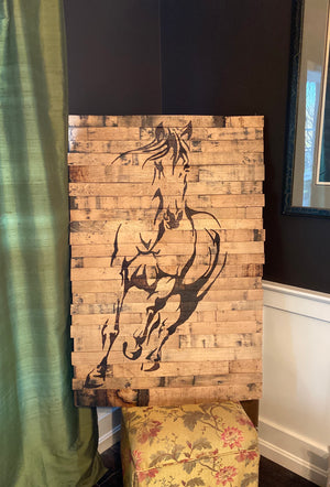 Bourbon Barrel Wall Art - Thoroughbred