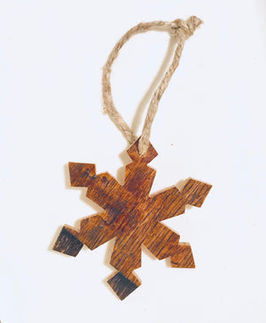 Bourbon Barrel Snowflake Ornament