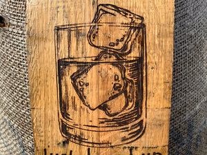 Custom Kentucky Bourbon Barrel wall decor hanger