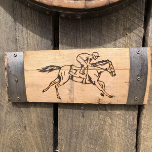 Custom Kentucky Bourbon Barrel Race Horse Wall Decor