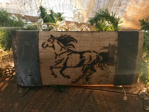 Mini Bourbon Barrel Thoroughbred Wall Decor