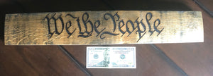 We The People Bourbon Barrel Wall Hanger