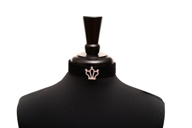 Crown - Black Velvet Choker