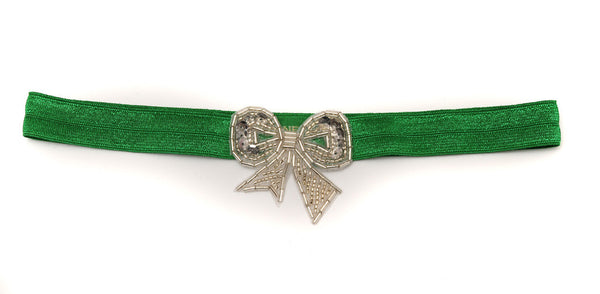 Beaded Bow Silver