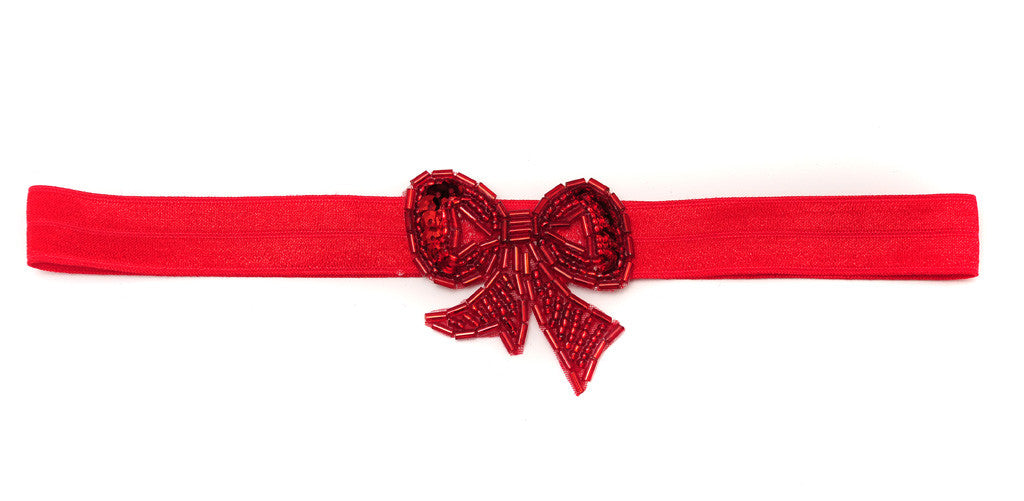 Beaded Bow Red