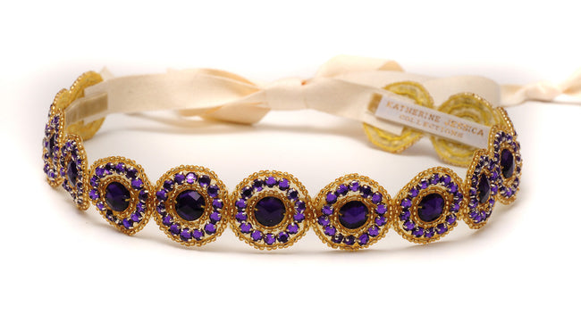 Boho Suede Purple/Gold