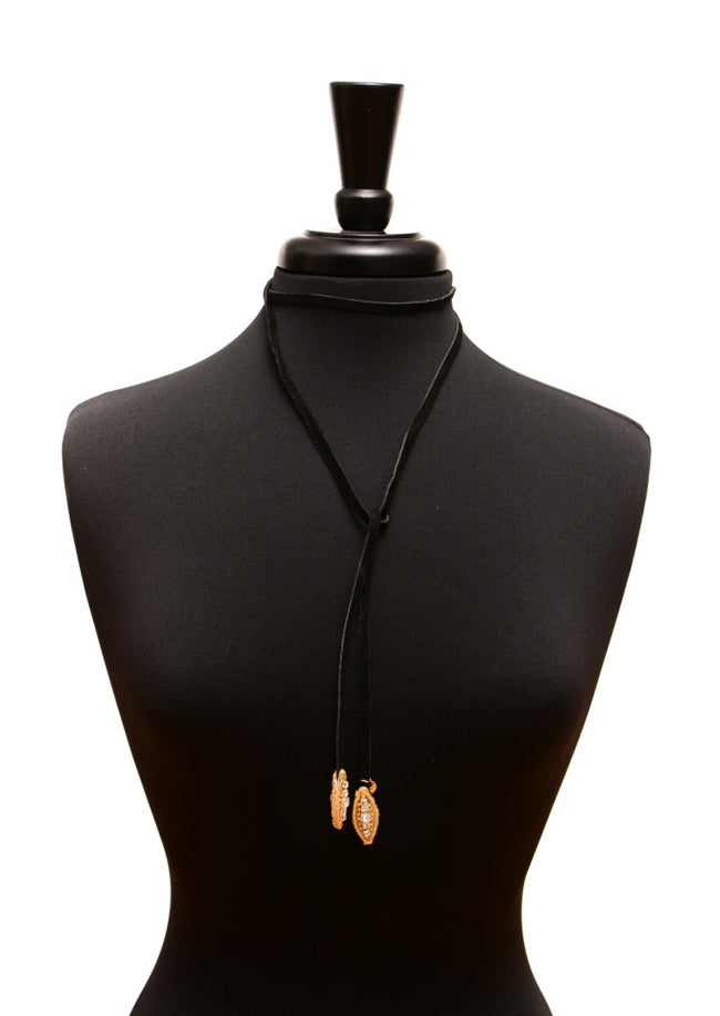Little Eye Gold - Black Suede Lariat