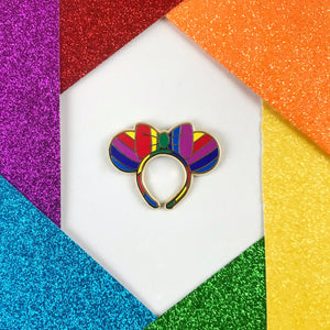 Rainbow Mouse Ears Enamel Pin