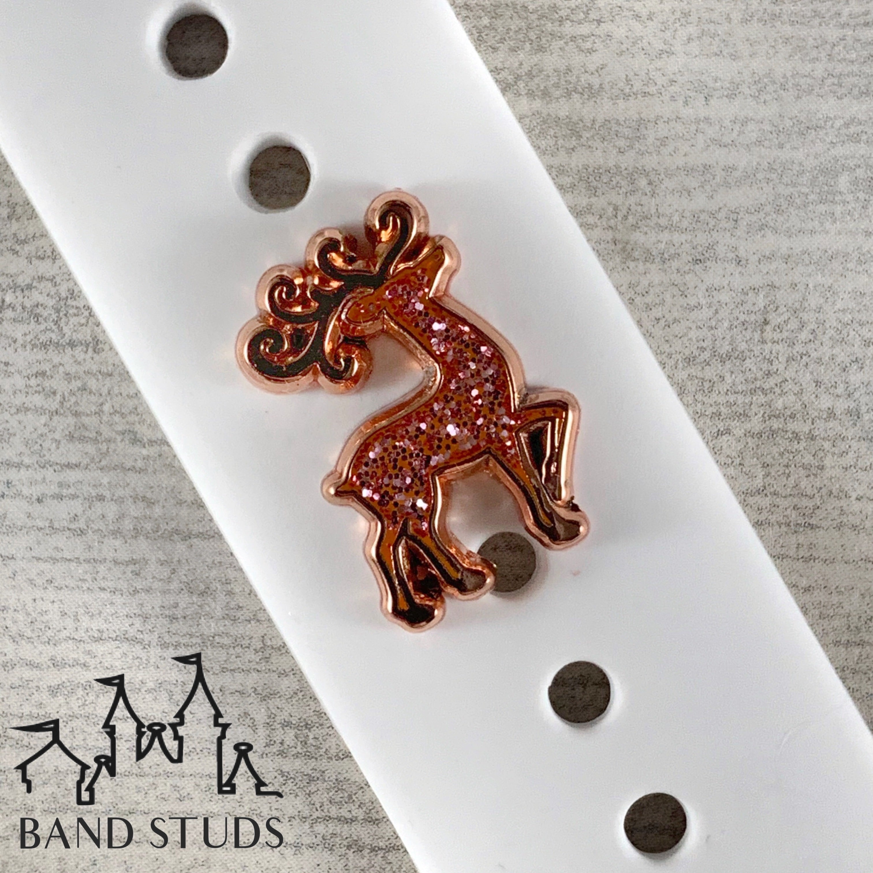 Band Stud - Christmas Collection - Majestic Reindeer READY TO SHIP