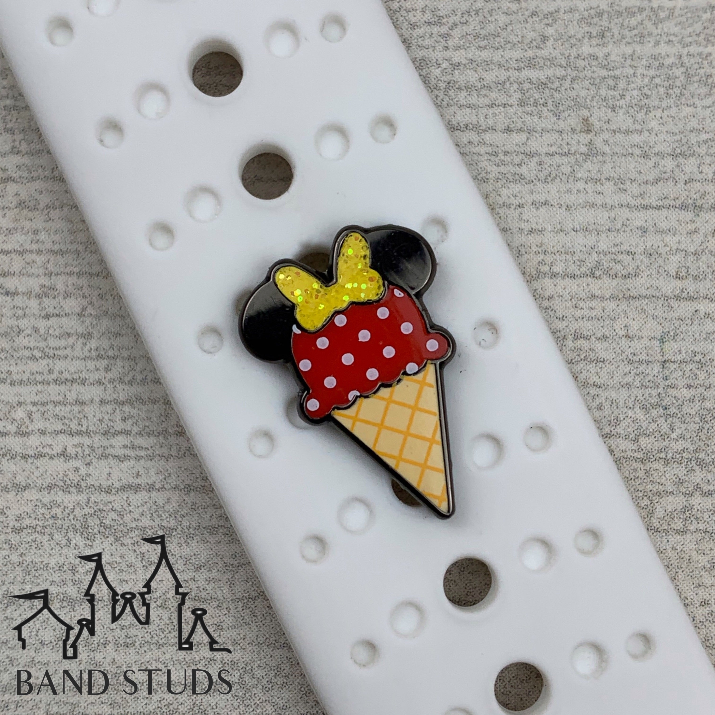 Band Stud - Ice Cream Miss. Mouse READY TO SHIP