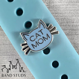 Band Stud - Cat Mom READY TO SHIP