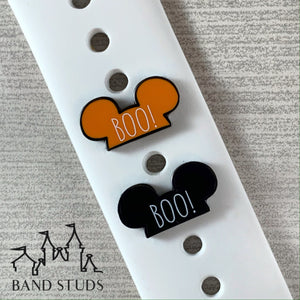 Band Stud - Halloween Collection - Boo Mouse Ears  READY TO SHIP