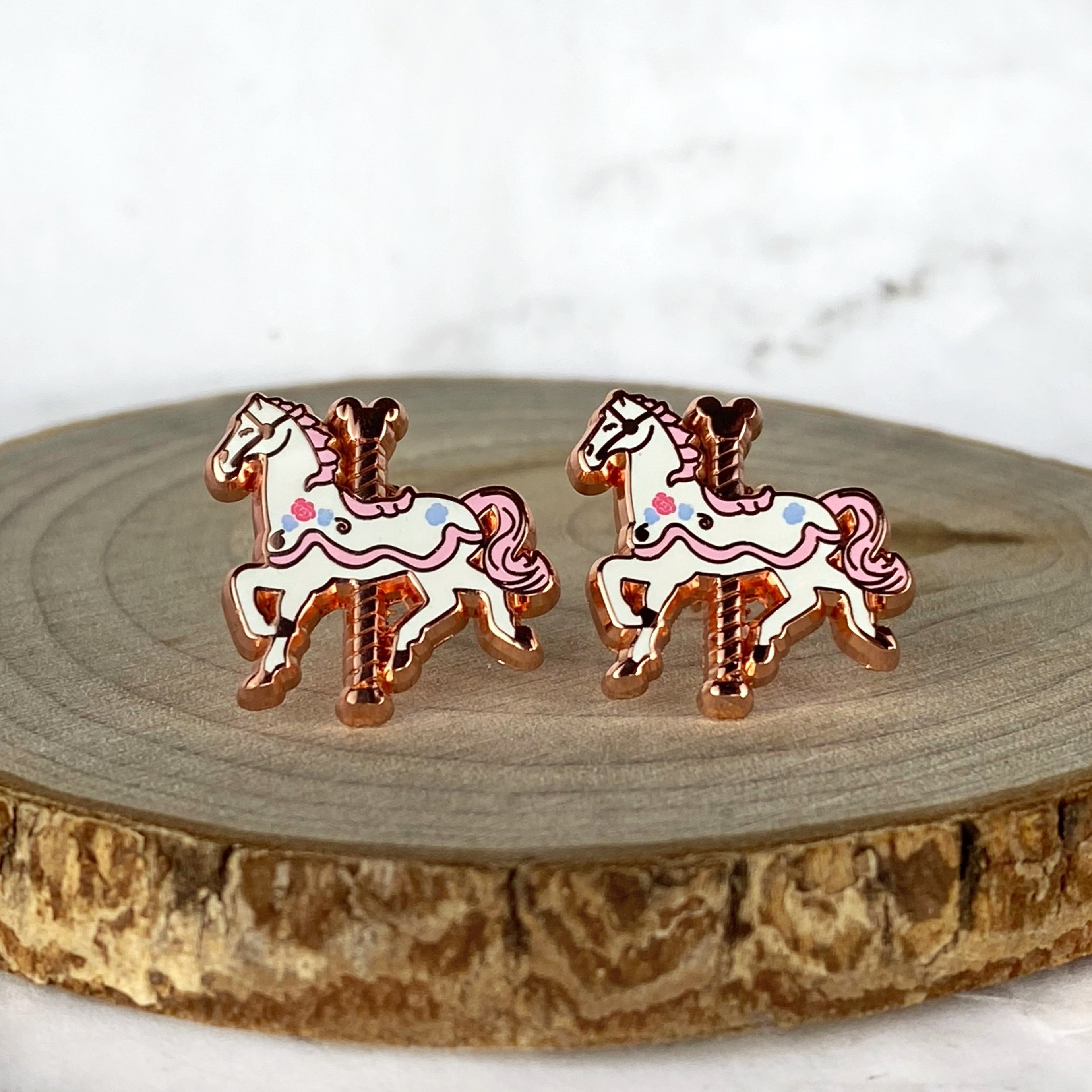 Earrings - Carousel Horse READY TO SHIP