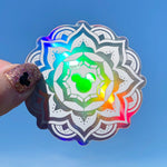Stickers - Bohemian Mouse Mandala - Holographic  READY TO SHIP
