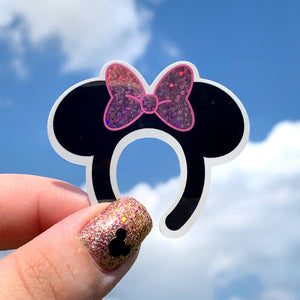 Stickers - Miss Mouse Ears - Pink   READY TO SHIP