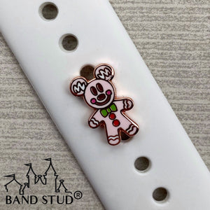 Band Stud® - Christmas Collection - Gingerbread PINK Mouse READY TO SHIP