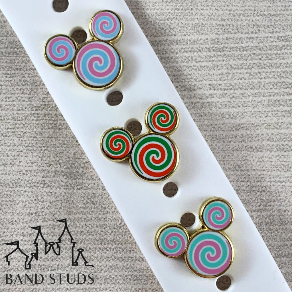 Band Stud® - Christmas Collection - Candy Swirl Mouse READY TO SHIP