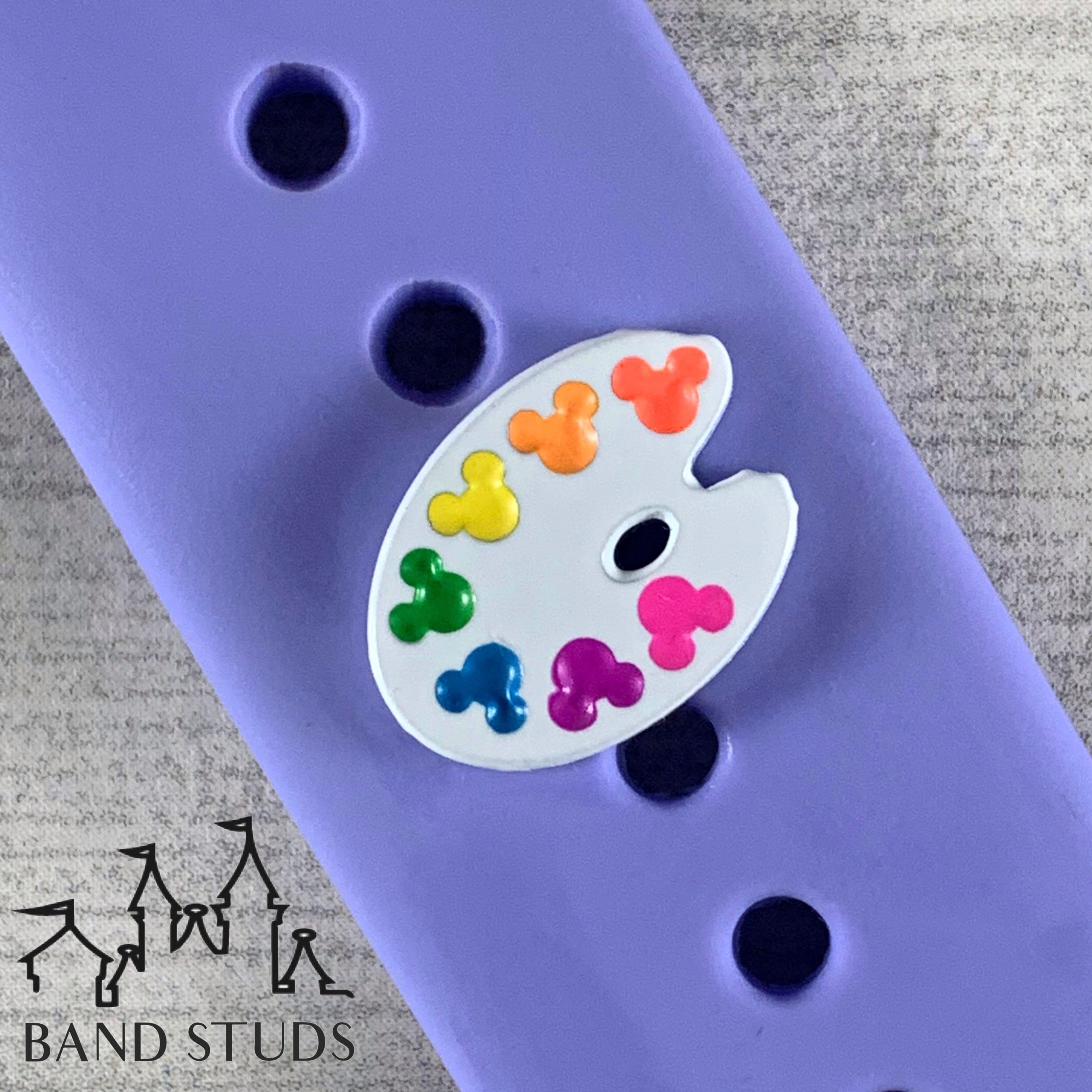 Band Stud - Painter's Palate  READY TO SHIP