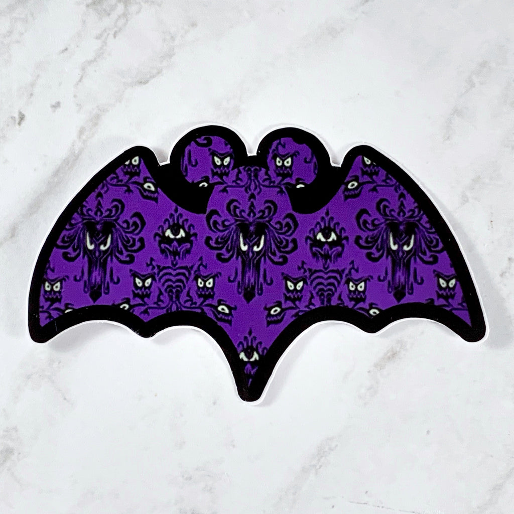 Stickers - Bat Haunted Mansion  READY TO SHIP