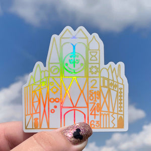 Stickers - Small World Holographic  READY TO SHIP