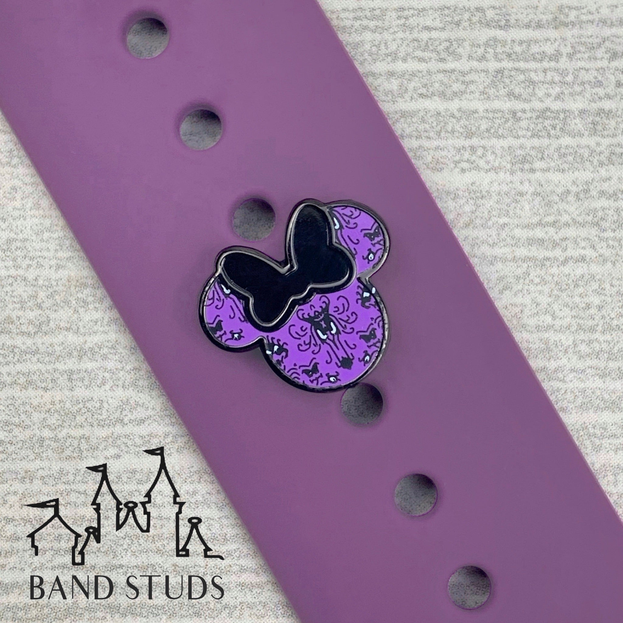 Band Stud® - Miss Mouse - Haunted Mansion Wallpaper  READY TO SHIP