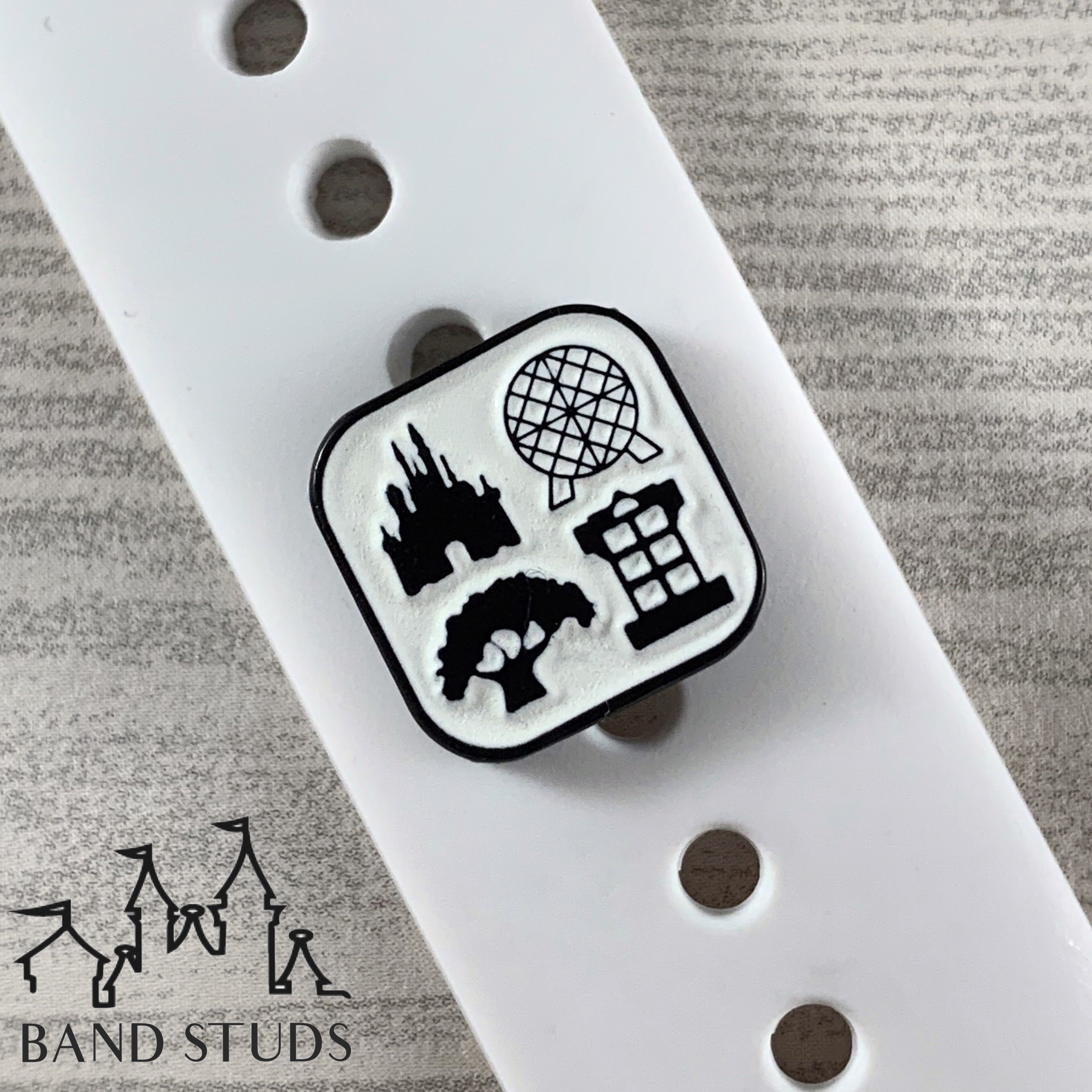 Band Stud - Halloween Collection - Four Parks One World - Glow in the Dark READY TO SHIP