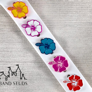 Band Stud - Summer Fun Collection - Hibiscus READY TO SHIP