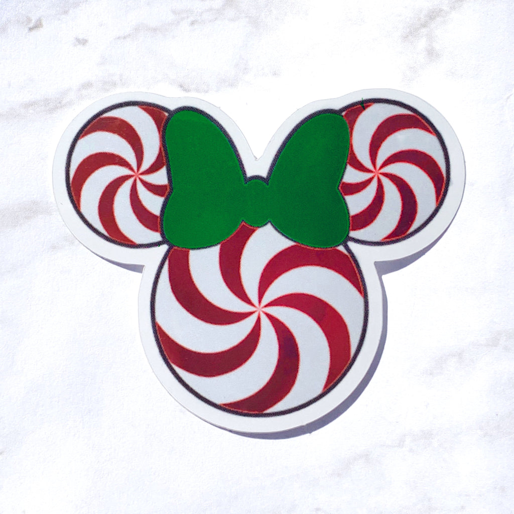 Stickers - Christmas Collection - Peppermint Miss Mouse  READY TO SHIP