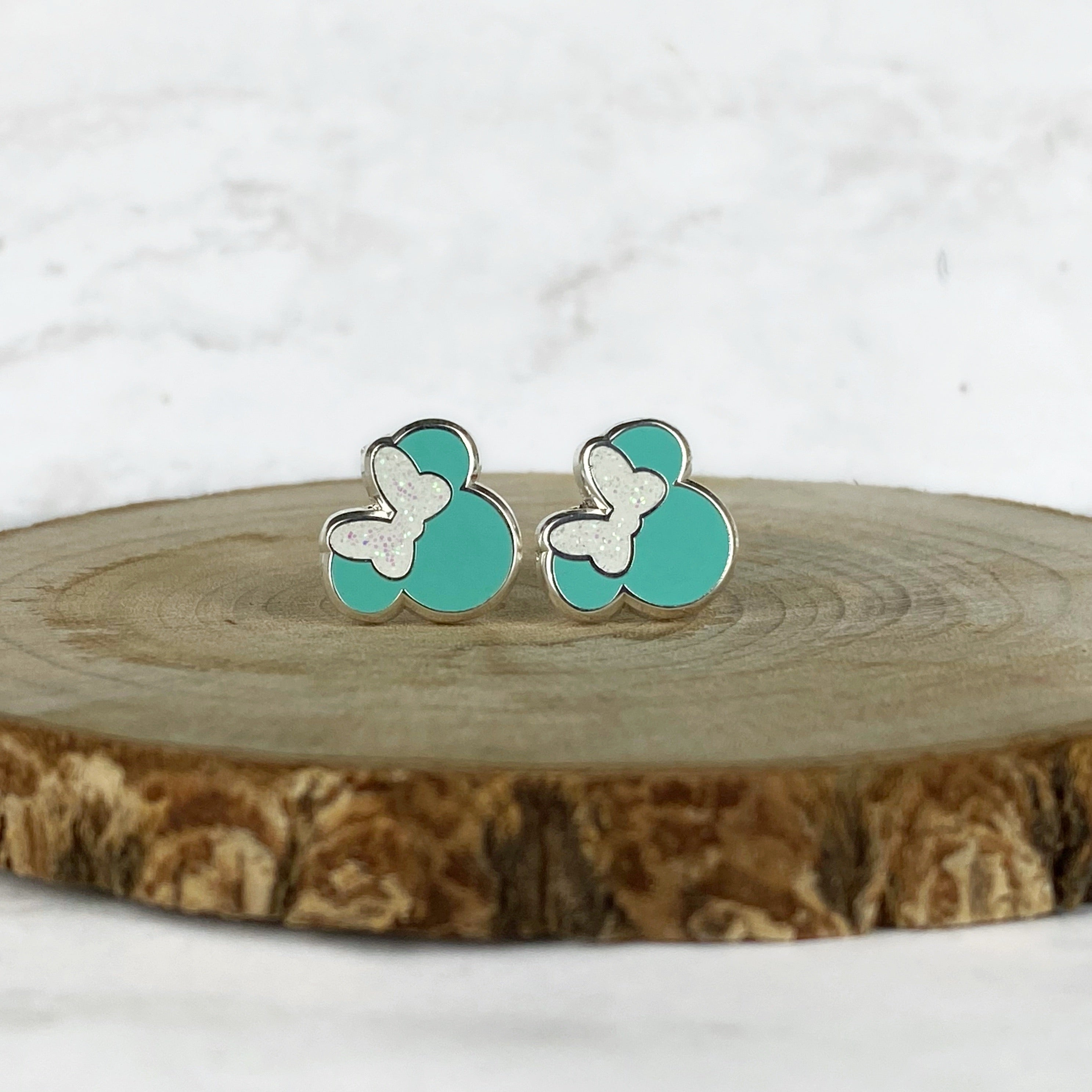 Earrings - Couture Blue Miss Mouse READY TO SHIP