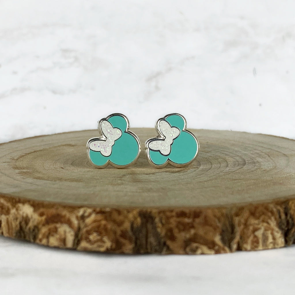 Earrings - Tiffany Blue Miss Mouse READY TO SHIP