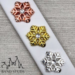 Band Stud® - Christmas Collection - Jeweled Snowflake  READY TO SHIP