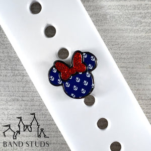 Band Stud® - Miss Mouse - Nautical READY TO SHIP