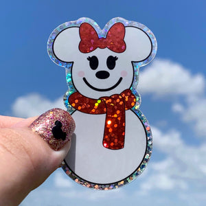 Stickers - Miss Snow Mouse  READY TO SHIP