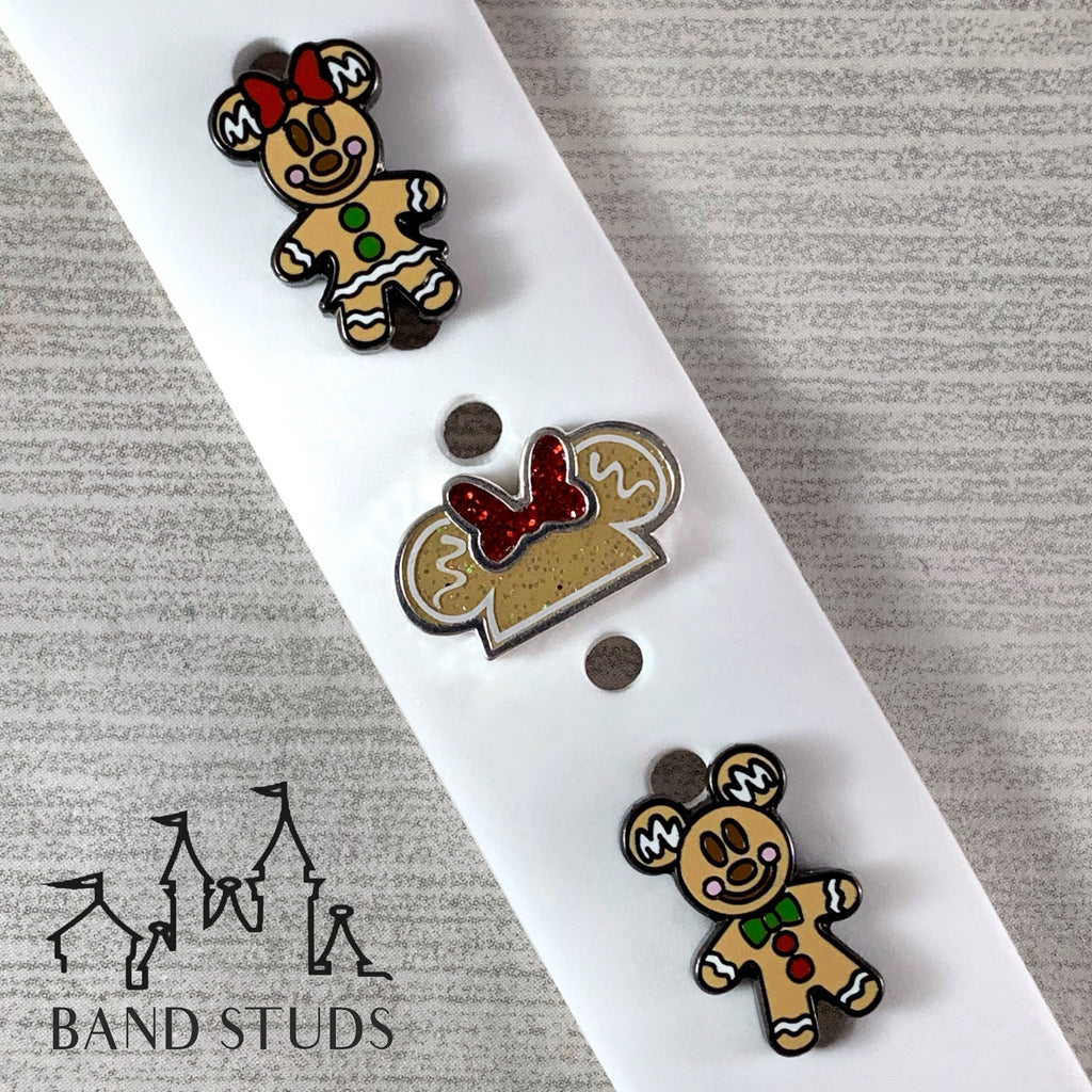 Band Stud® - Christmas Collection - Gingerbread Mouse READY TO SHIP