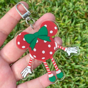 Keychain / Bag Charm - Mousette READY TO SHIP