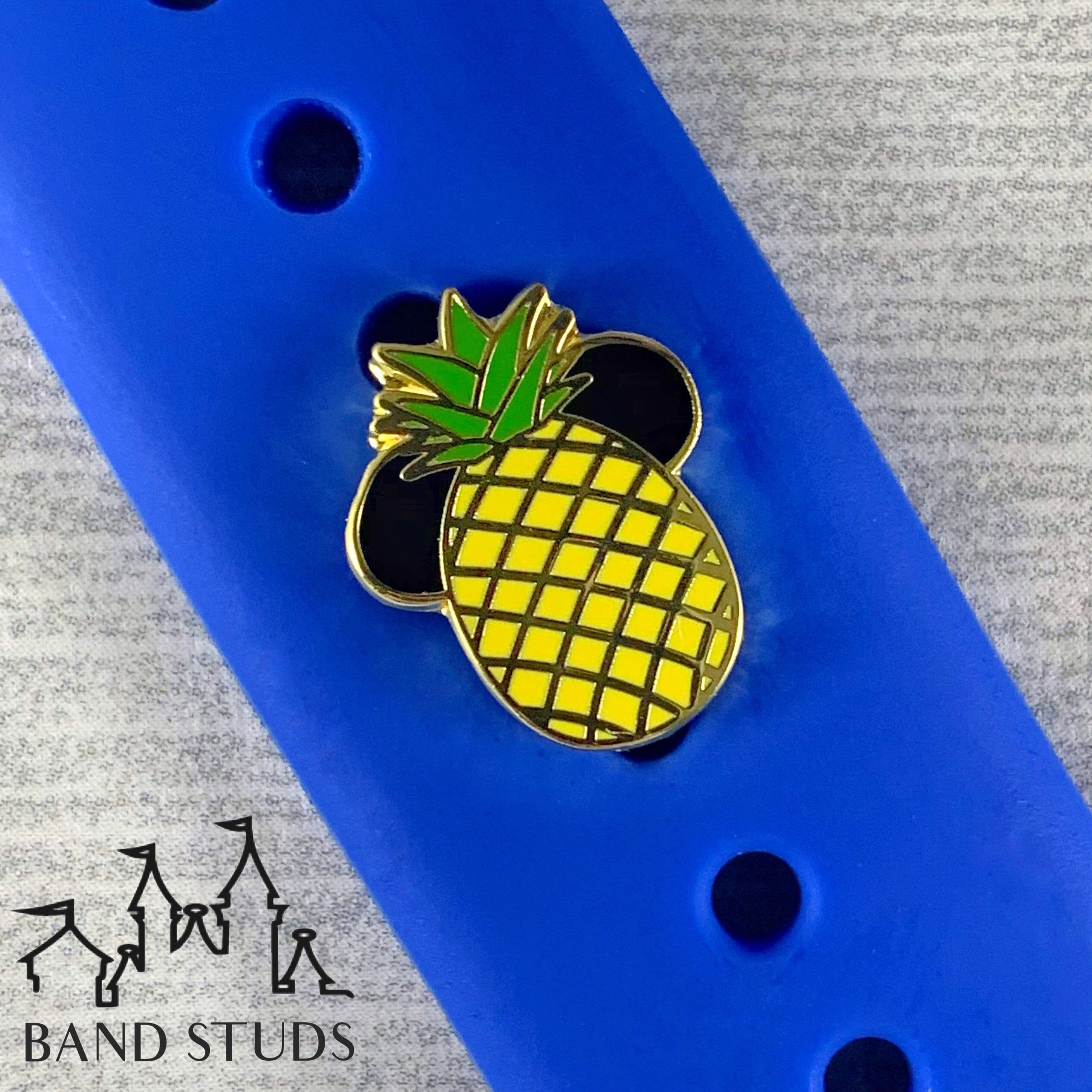 Band Stud - Summer Fun Collection - Pineapple Mouse READY TO SHIP
