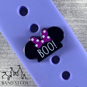 Band Stud® - Halloween Collection - Boo Mouse Ears  READY TO SHIP