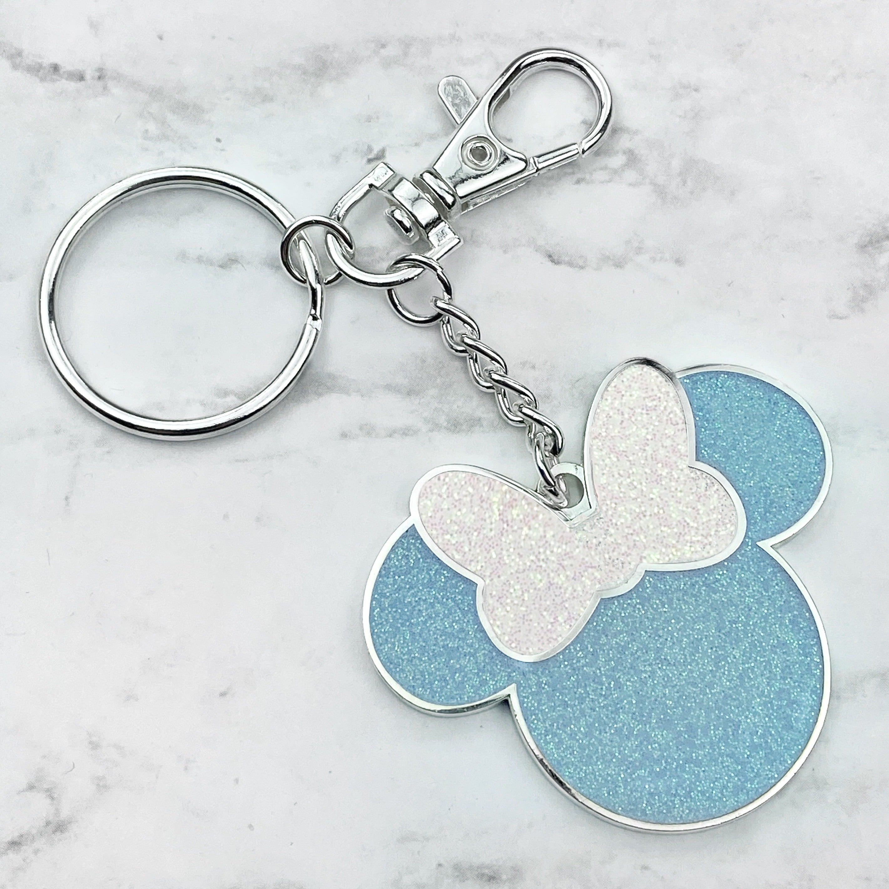 Keychain / Bag Charm *Miss Mouse* Cinderella Blue READY TO SHIP