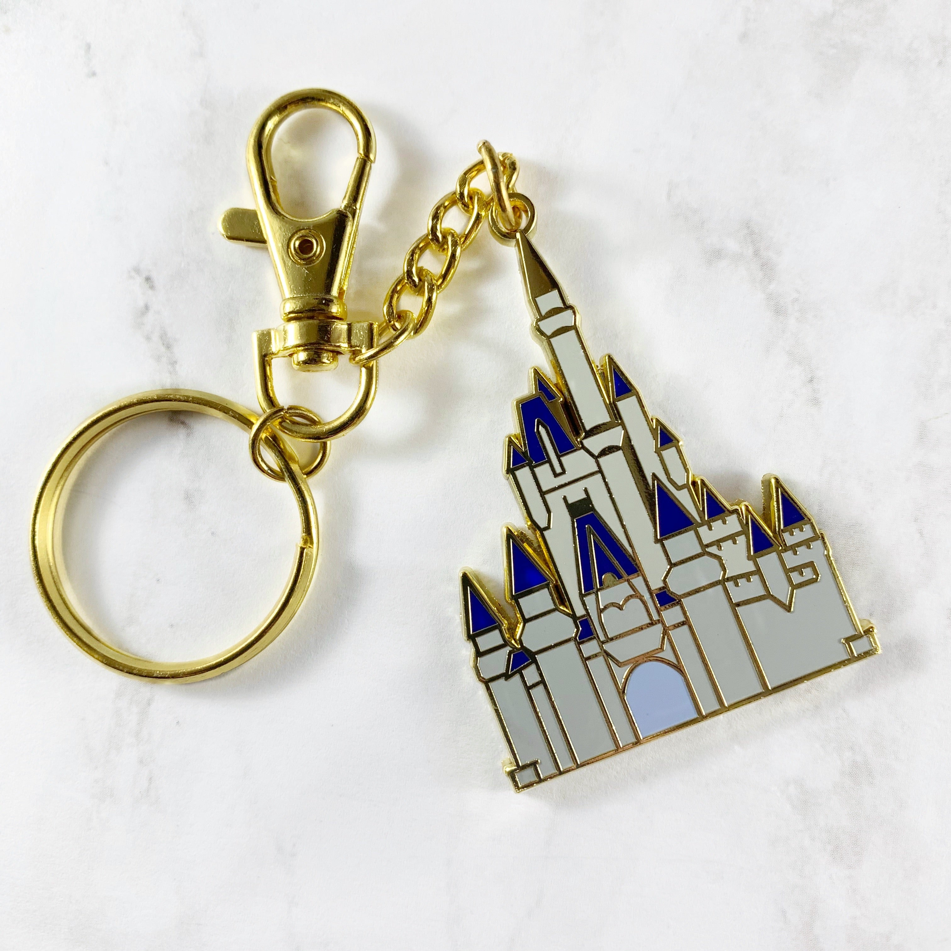 Keychain - Cinderella Castle READY TO SHIP